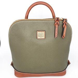 New Dooney & Bourke Olive Pebble Zip Pod Backpack